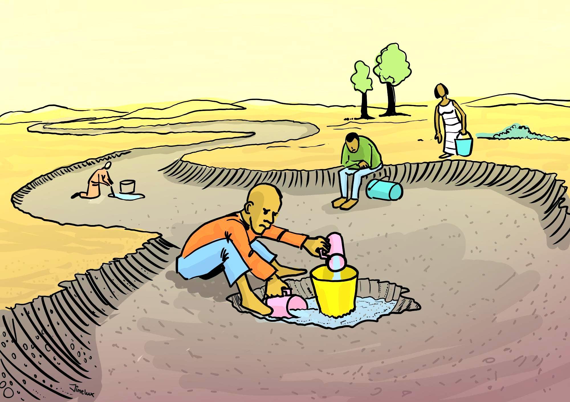 Water Hidden in Sand